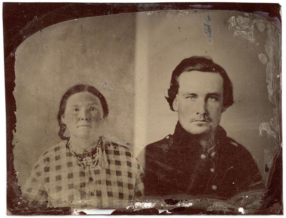 Quarter-plate tintype by an anonymous photographer. Rick Brown Collection.