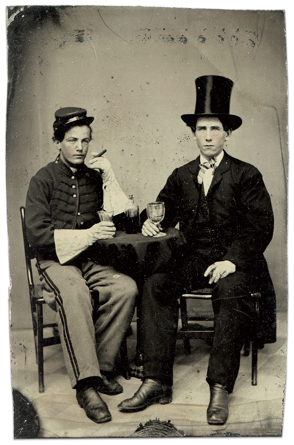 Eighth-plate tintype by an anonymous photographer. Rick Brown Collection.