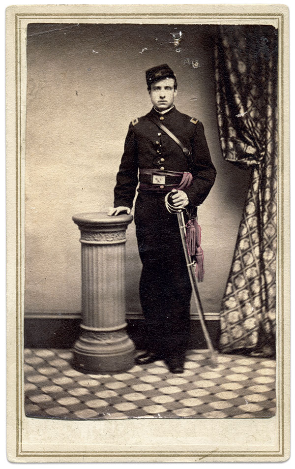Bruton, pictured in early 1864 as an officer in Company C of the 22nd New York Cavalry. Carte de visite by an anonymous photographer. Rick Carlile Collection.