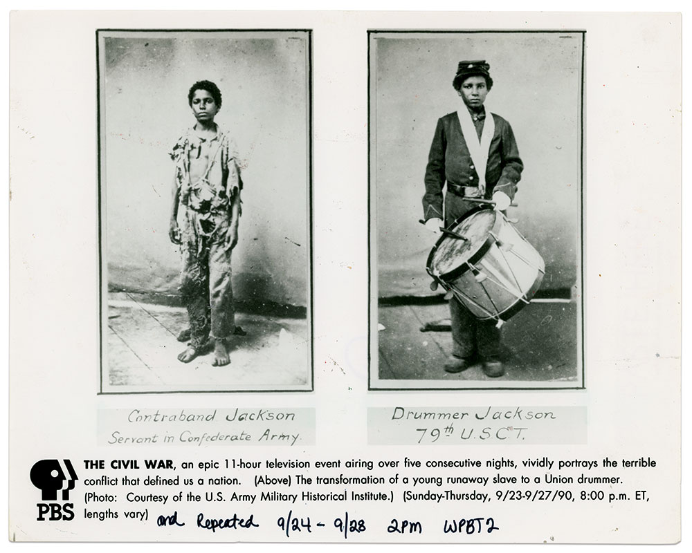 Press photo for Ken Burns' The Civil War.
