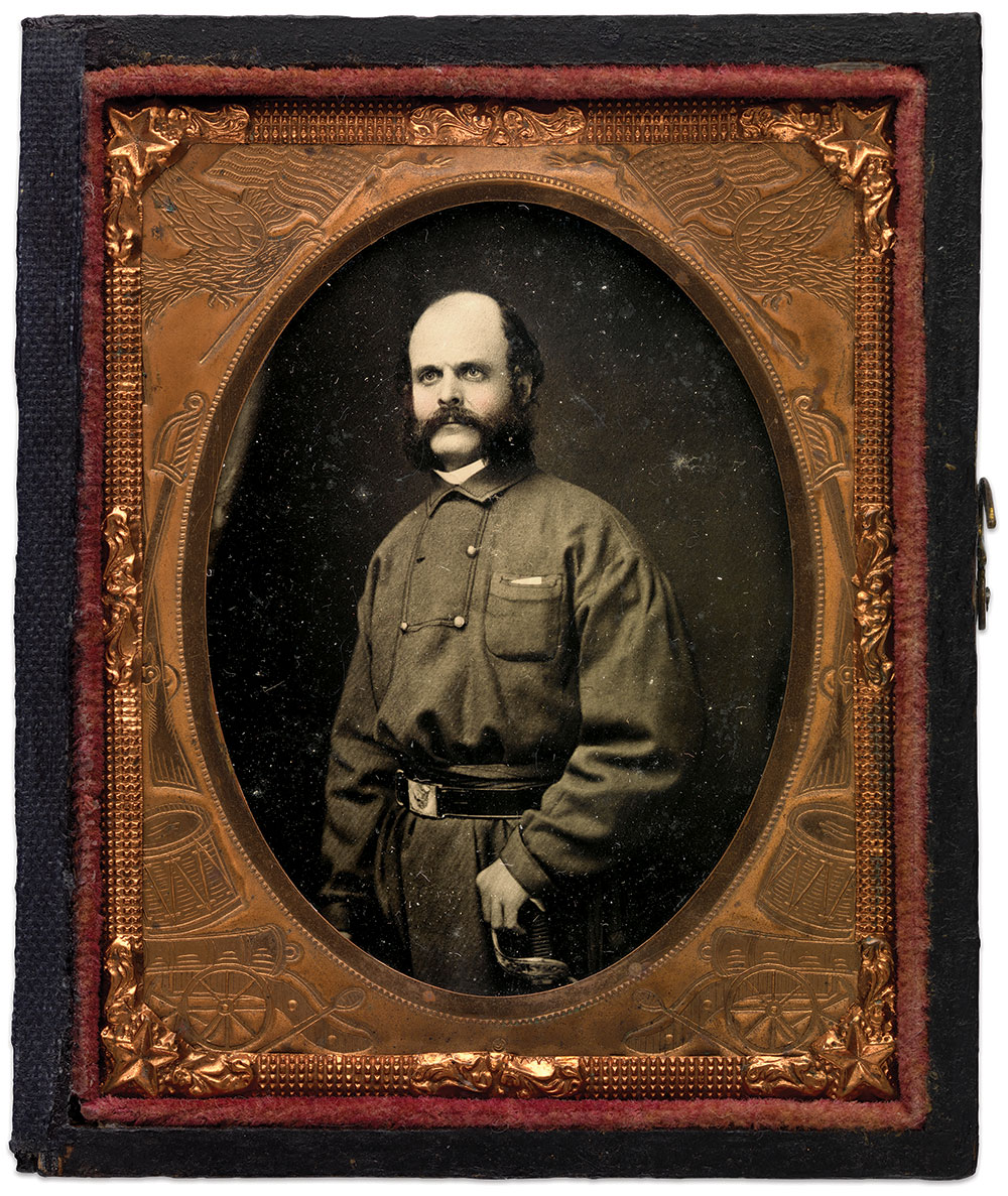 Ninth-plate ambrotype by Manchester & Brother of Providence, R.I. National Portrait Gallery, Smithsonian Institution.