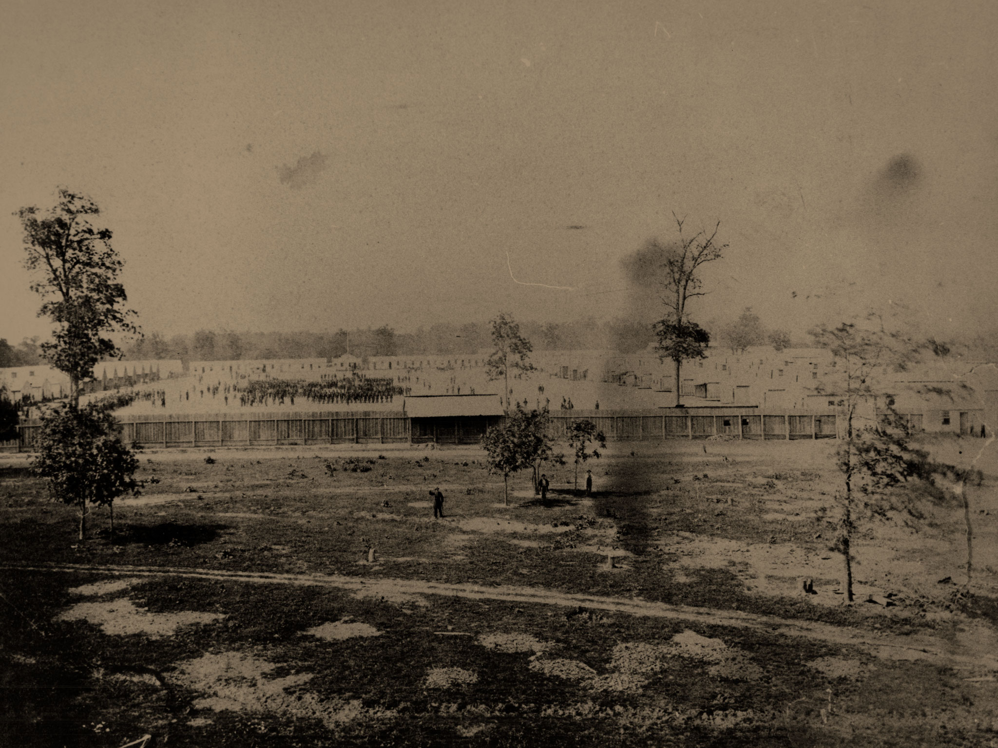 A view of Camp Butler. Albumen print by an anonymous photographer. Abraham Lincoln Presidential Library & Museum Collection.