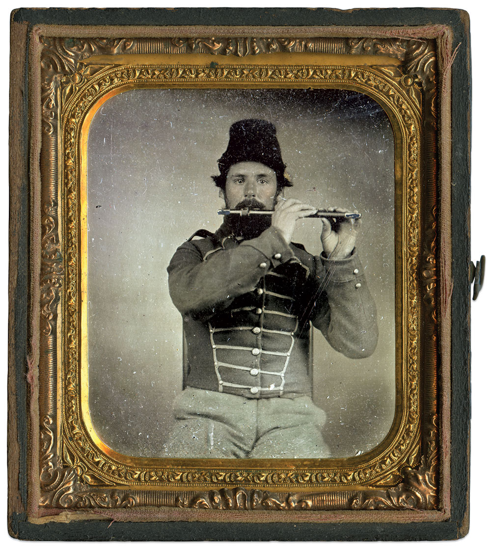 Sixth-plate tintype by an anonymous photographer. Kevin Canberg Collection.