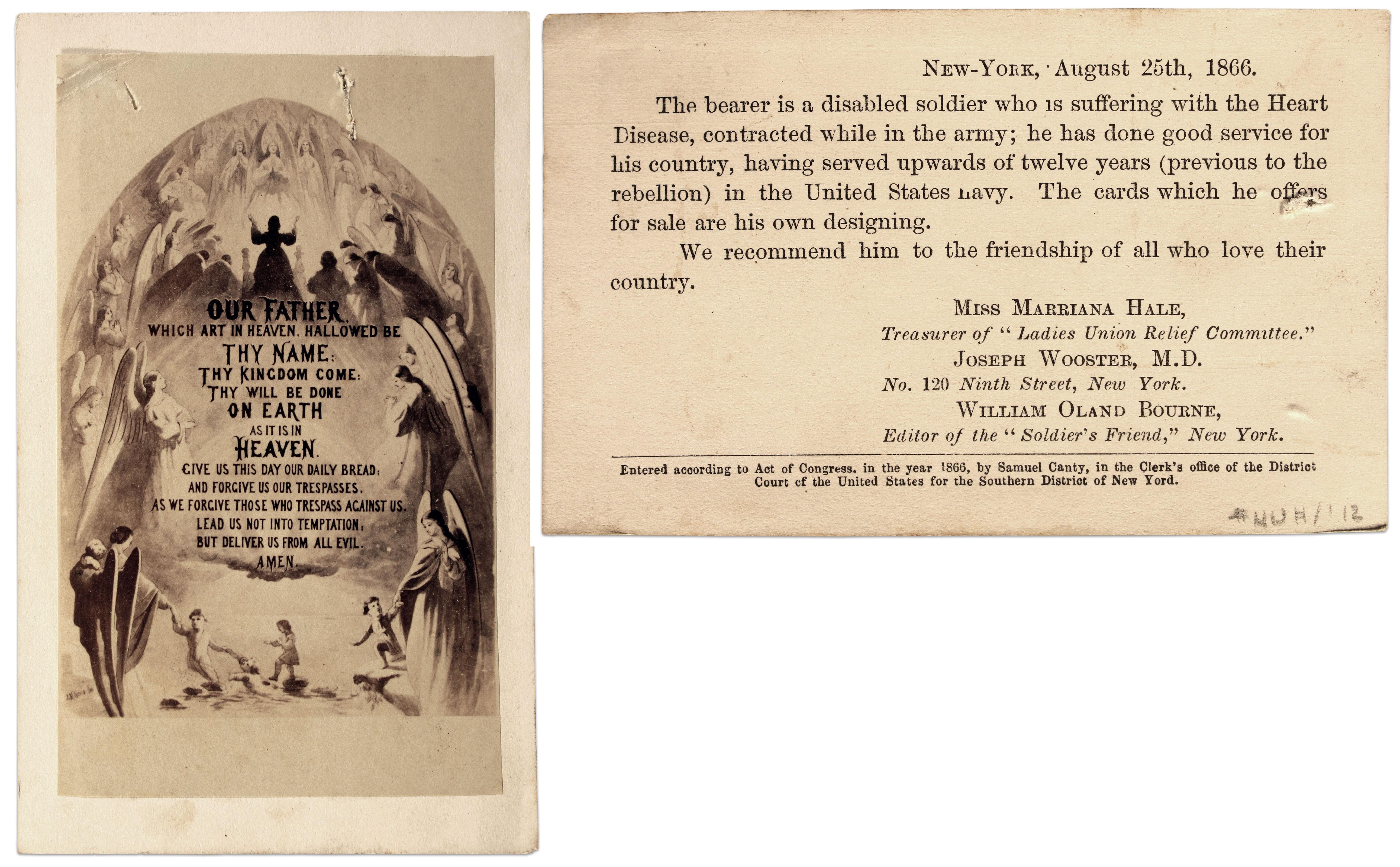Carte de visite by an anonymous photographer. Buck Zaidel Collection.