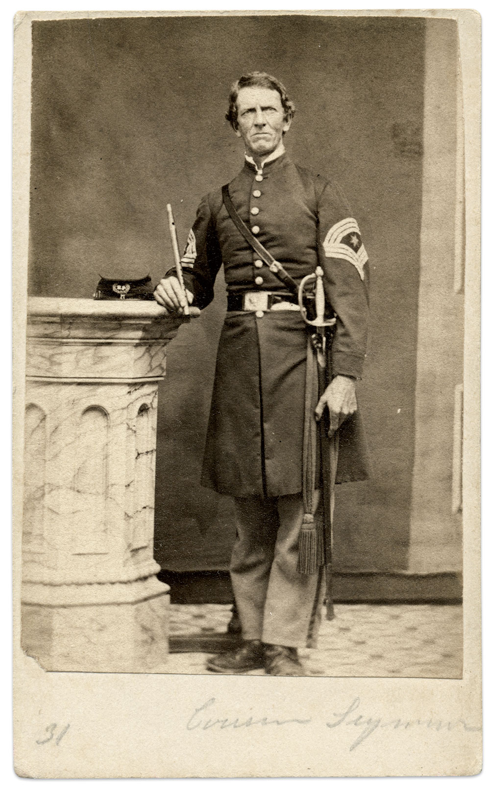Carte de visite by Richard Walzl of Baltimore, Md. Rick Carlile Collection.