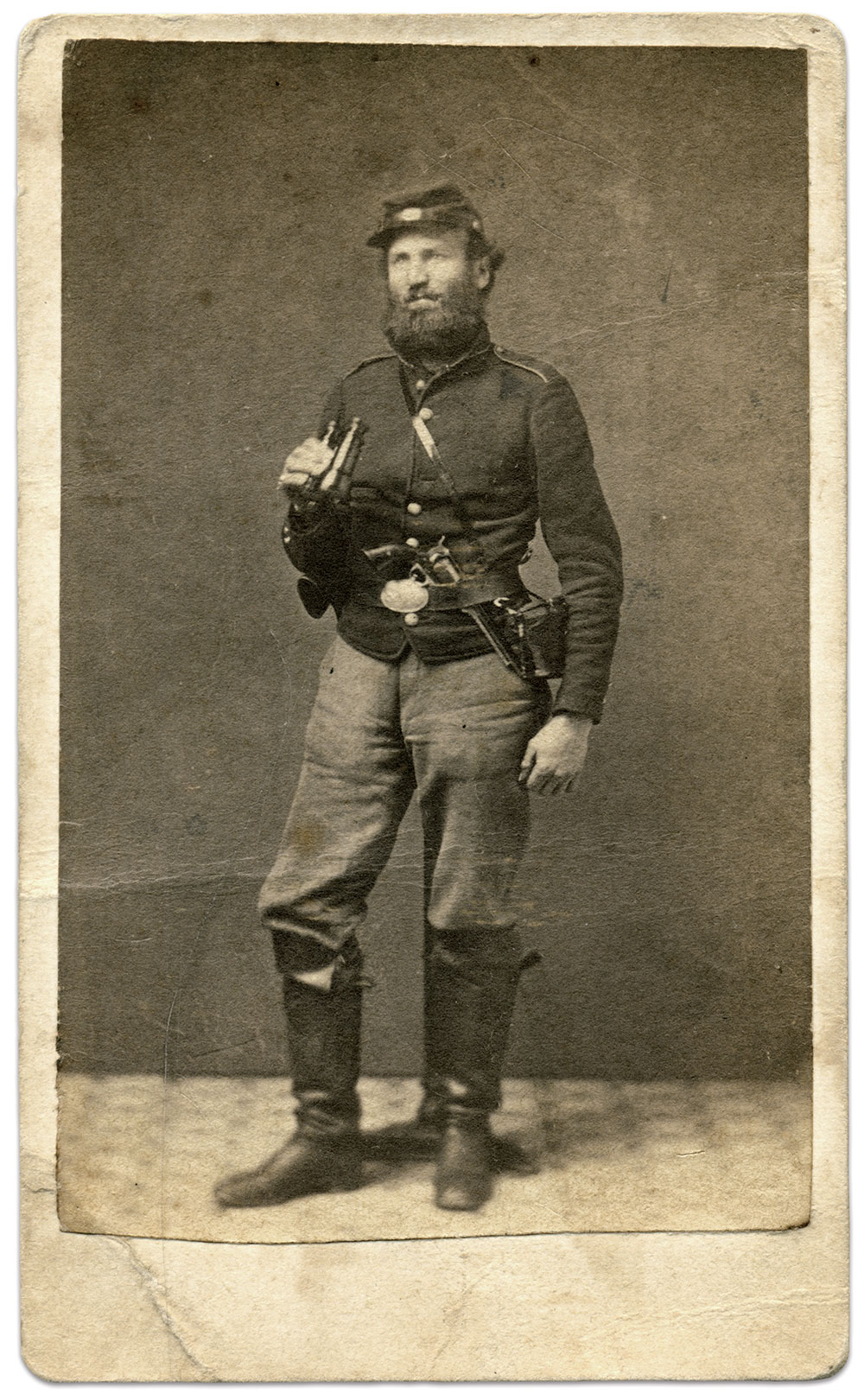 Carte de visite by the Army Photograph and Ambrotype Gallery at Upton's Hill. Rick Carlile Collection.