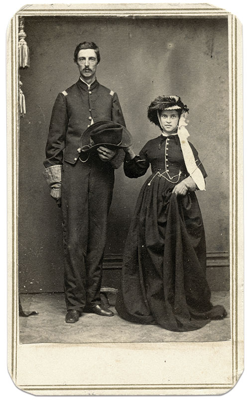 Carte de visite by Hopkins' Photograph and Ambrotype Gallery of Annapolis, Md. Rick Carlile Collection.