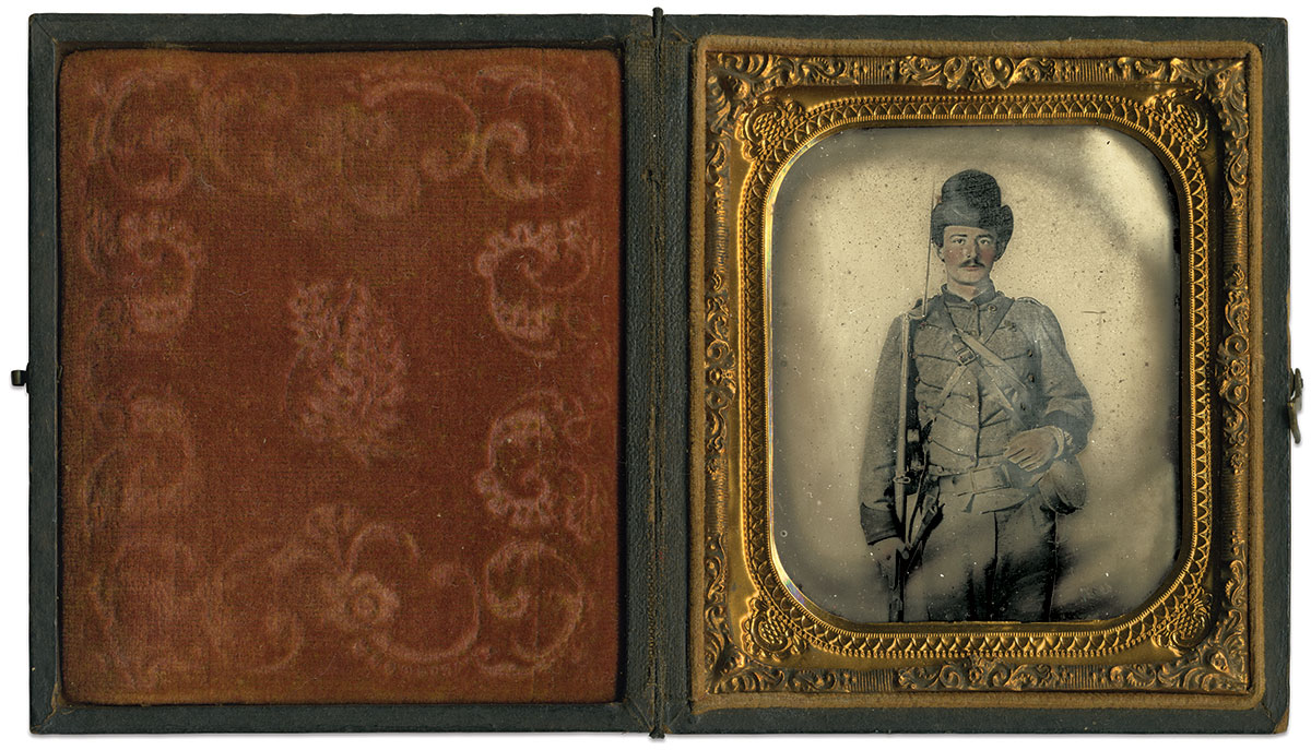 Sixth-plate ambrotype by Charles R. Rees of Richmond, Va.