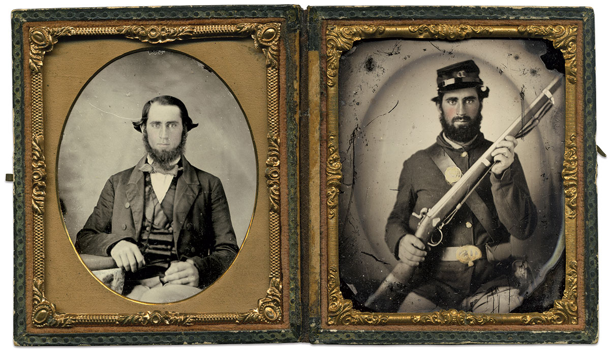 Sixth-plate ambrotypes by an anonymous photographer.