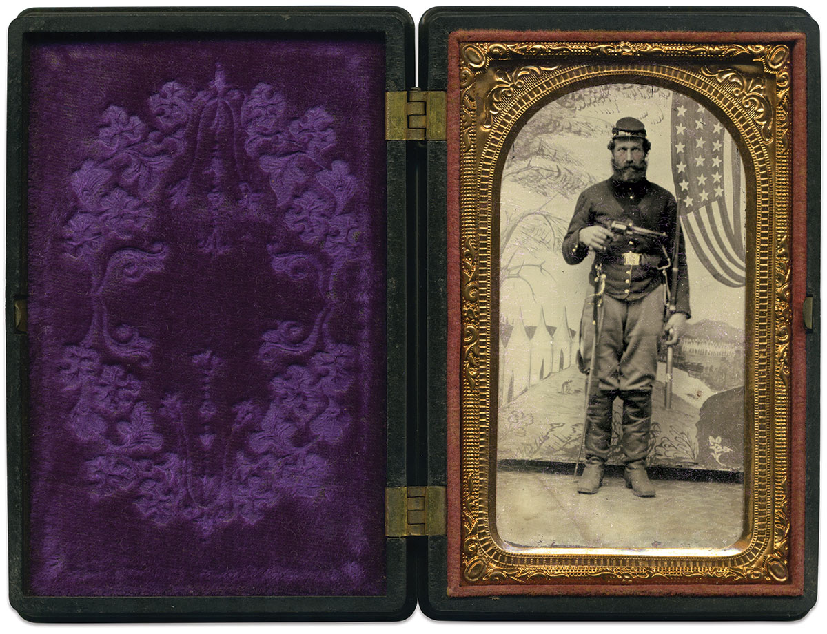 Eighth-plate tintype by an anonymous photographer.