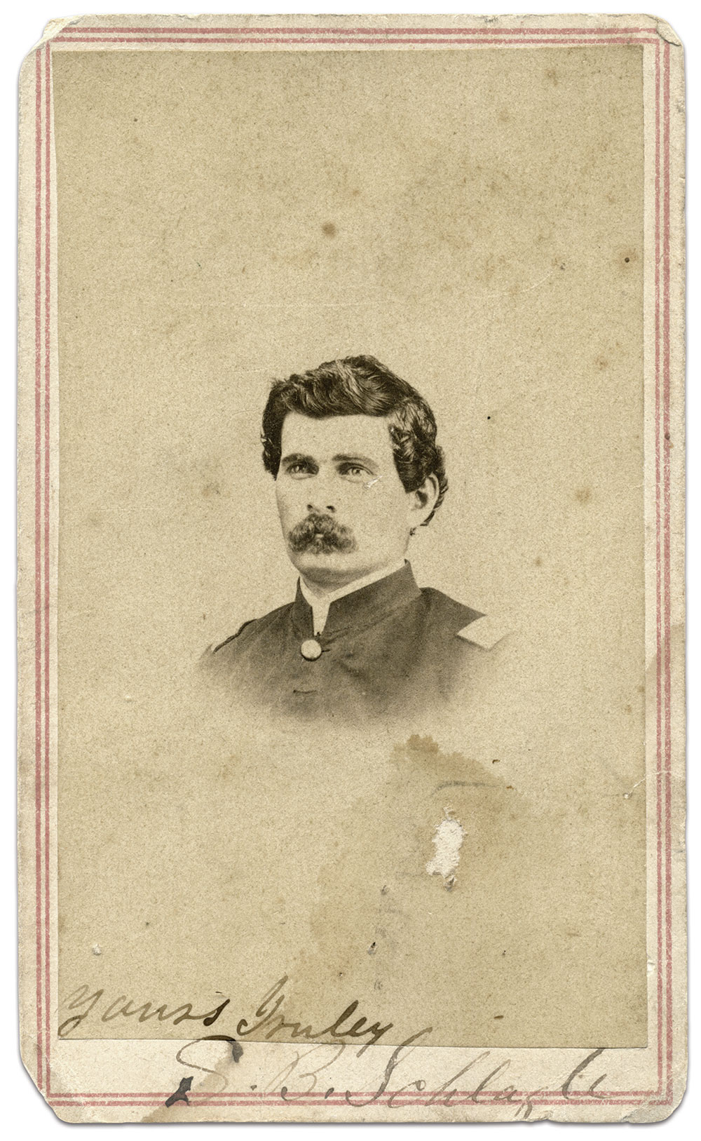 Carte de visite by an anonymous photographer. Bill Rodio Collection.
