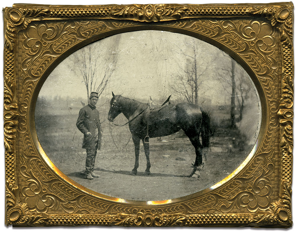Quarter-plate tintype by an anonymous photographer. C. Paul Loane collection.