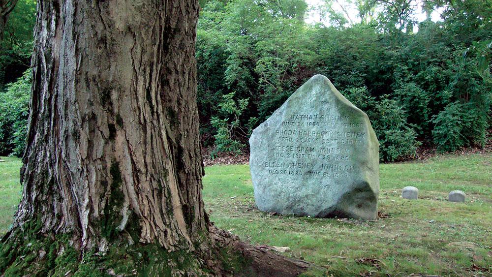 Ellen's grave at Mount Auburn Cemetery in Cambridge, Mass. Courtesy Mount Auburn Cemetery.