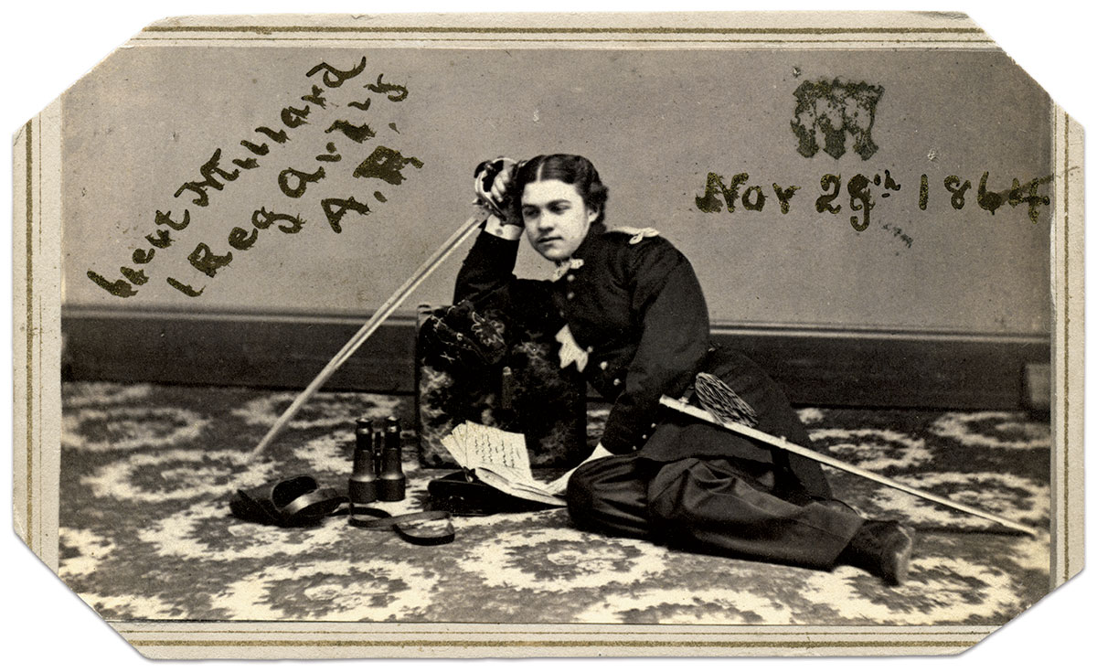 Carte de visite by Pine & Bell of Troy, N.Y. Ronald S. Coddington Collection.