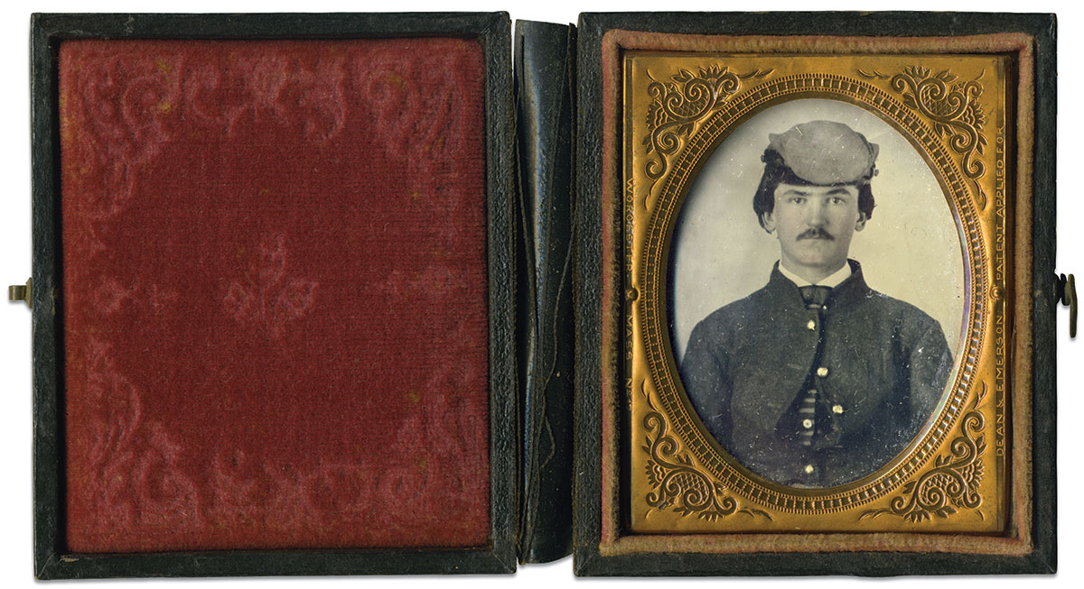 Ninth-plate ambrotype by an anonymous photographer. Colt Johnson Collection.
