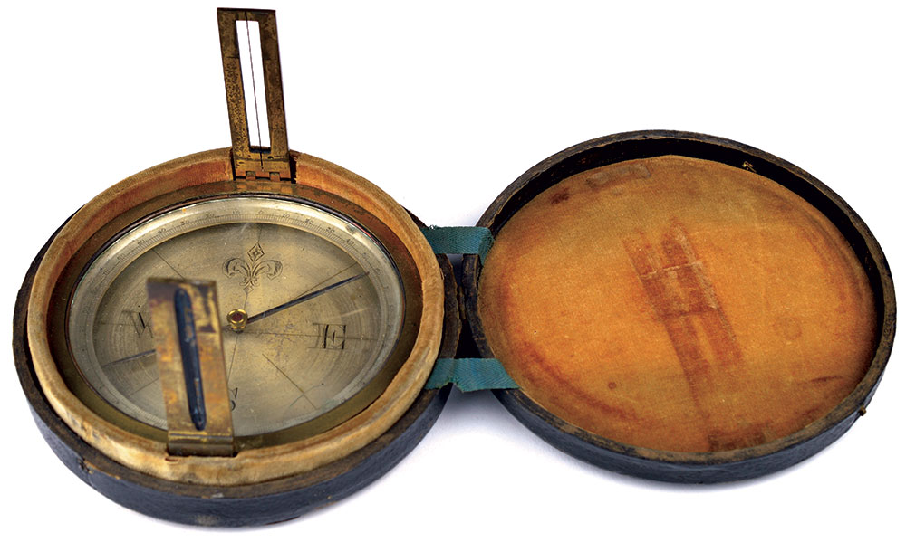 According to James B. Linn, the soldier who sold him this compass once owned by Jefferson Davis parted with it only reluctantly. American Civil War Museum.