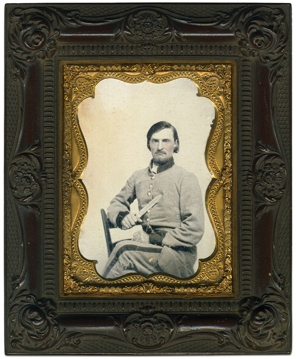 Quarter-plate ambrotype by an anonymous photographer. Richard J. Ferry Collection.