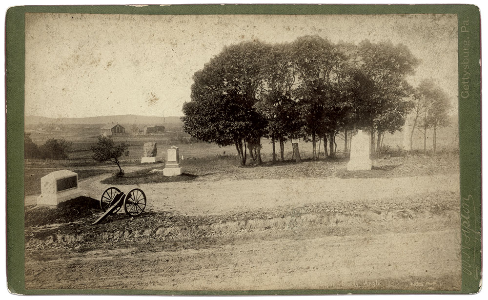 A postwar view of The Copse of Trees. Cabinet card by William H. Tipton of Gettysburg, Pa. Author's Collection.