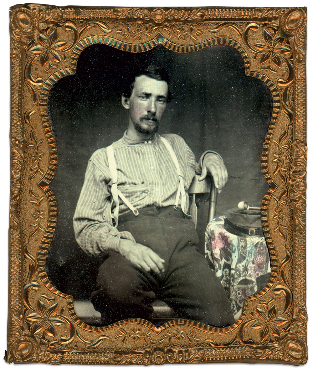 Sixth-plate ambrotype by an anonymous photographer. Courtesy Erin Waters.