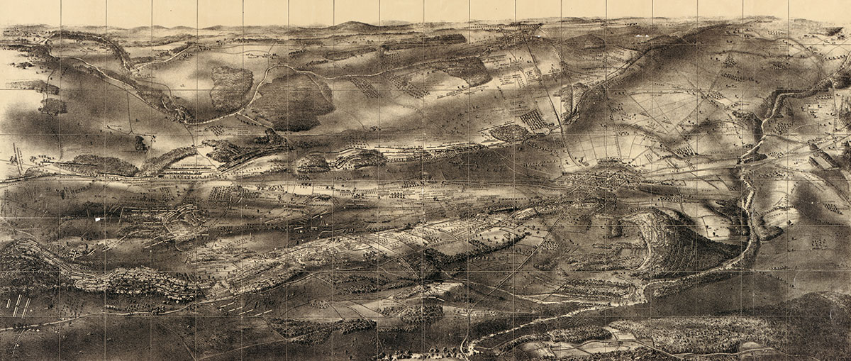 John B. Bachelder's map of the Battle of Gettysburg. Library of Congress.