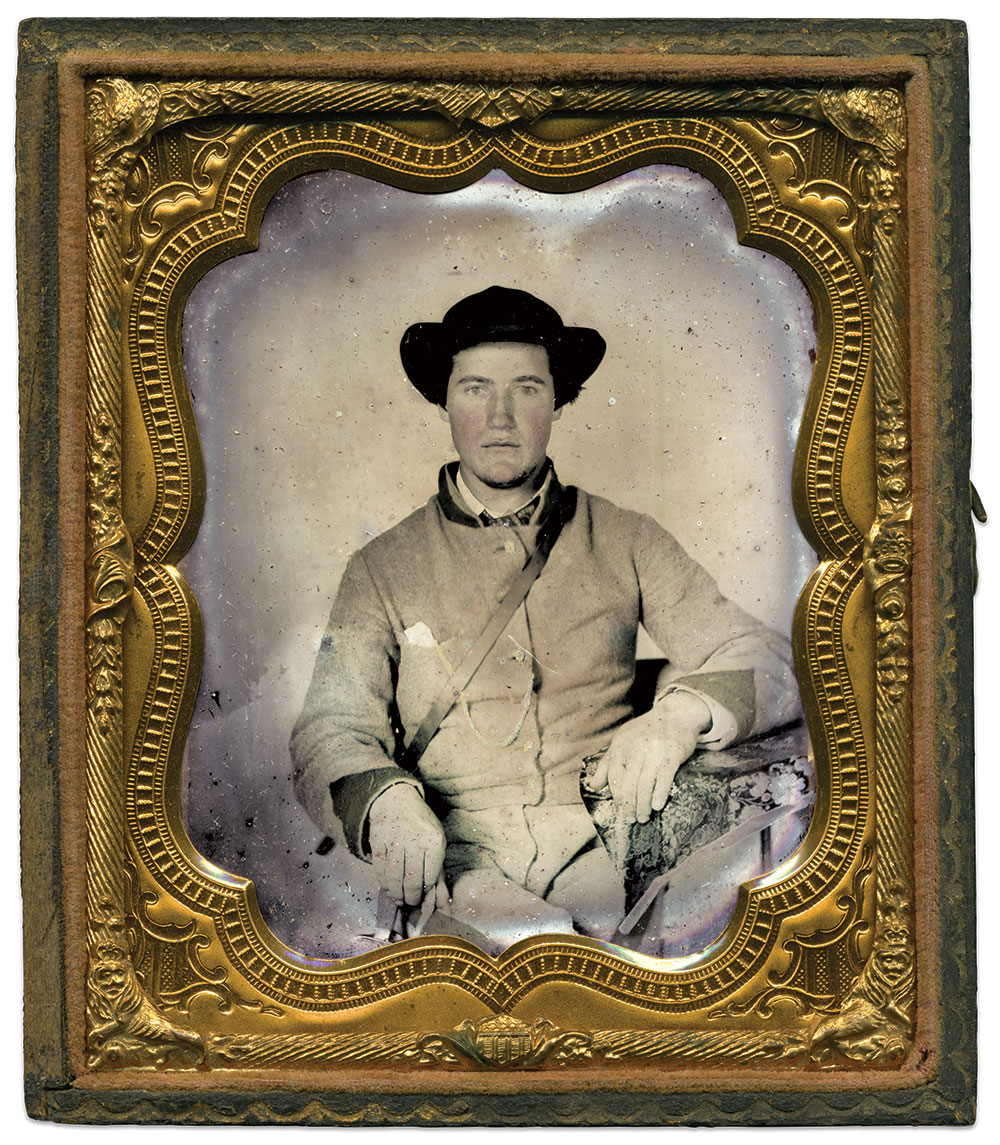 Sixth-plate tintype by anonymous photographer. Daniel Taylor Collection.