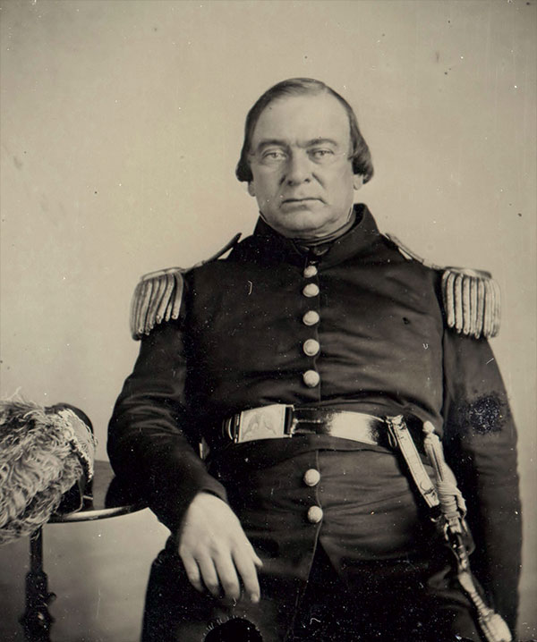 Col. Daniel D. Tompkins. Quarter-plate ambrotype by an anonymous photographer. Dan Binder Collection.