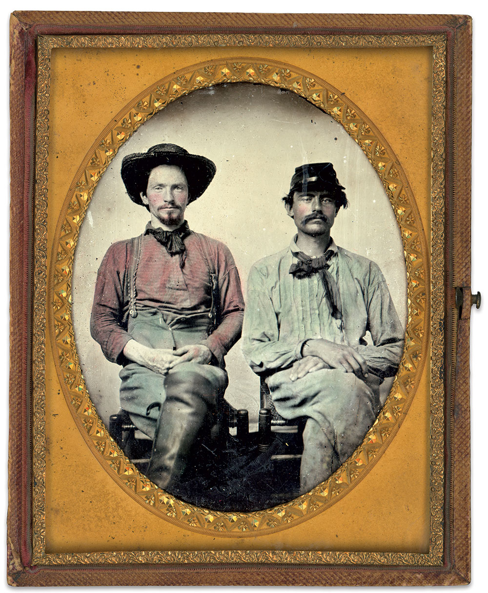 Half-plate ambrotype by an anonymous photographer. Charles Darden Collection.