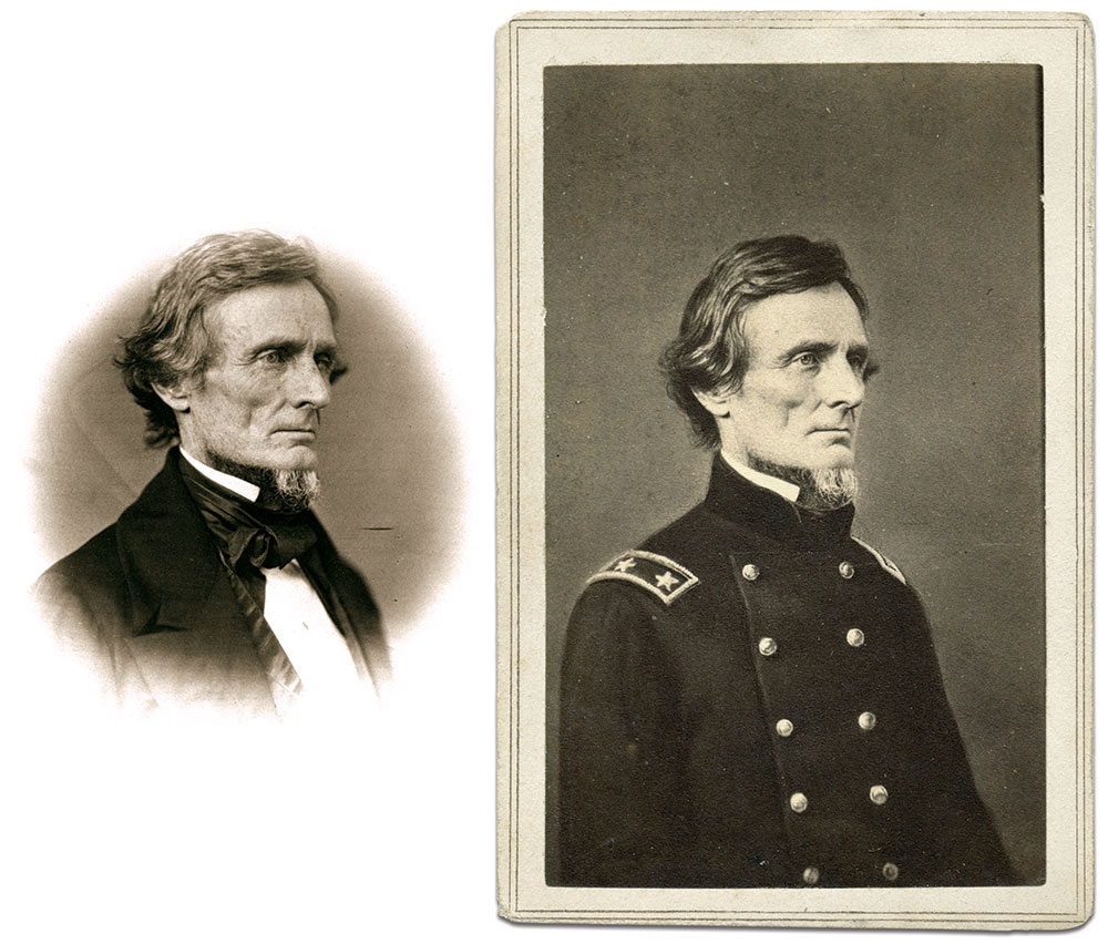 Albumen print by James E. McClees or his assistant, Julian Vannerson, left, from the Library of Congress. Carte de visite by Charles D. Fredricks of New York City, right. Author's collection.