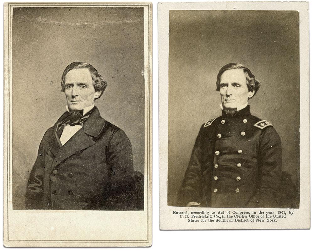Carte de visites by Charles D. Fredricks of New York City, left, and Jesse H. Whitehurst of Washington, D.C. Author's collection.