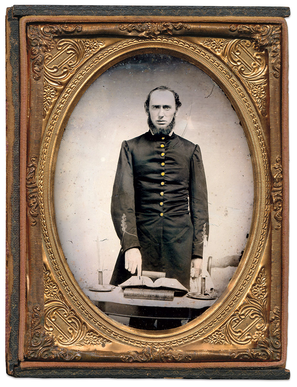 Quarter-plate ambrotype by an anonymous photographer attributed to Richmond, Va. Dan Schwab Collection.