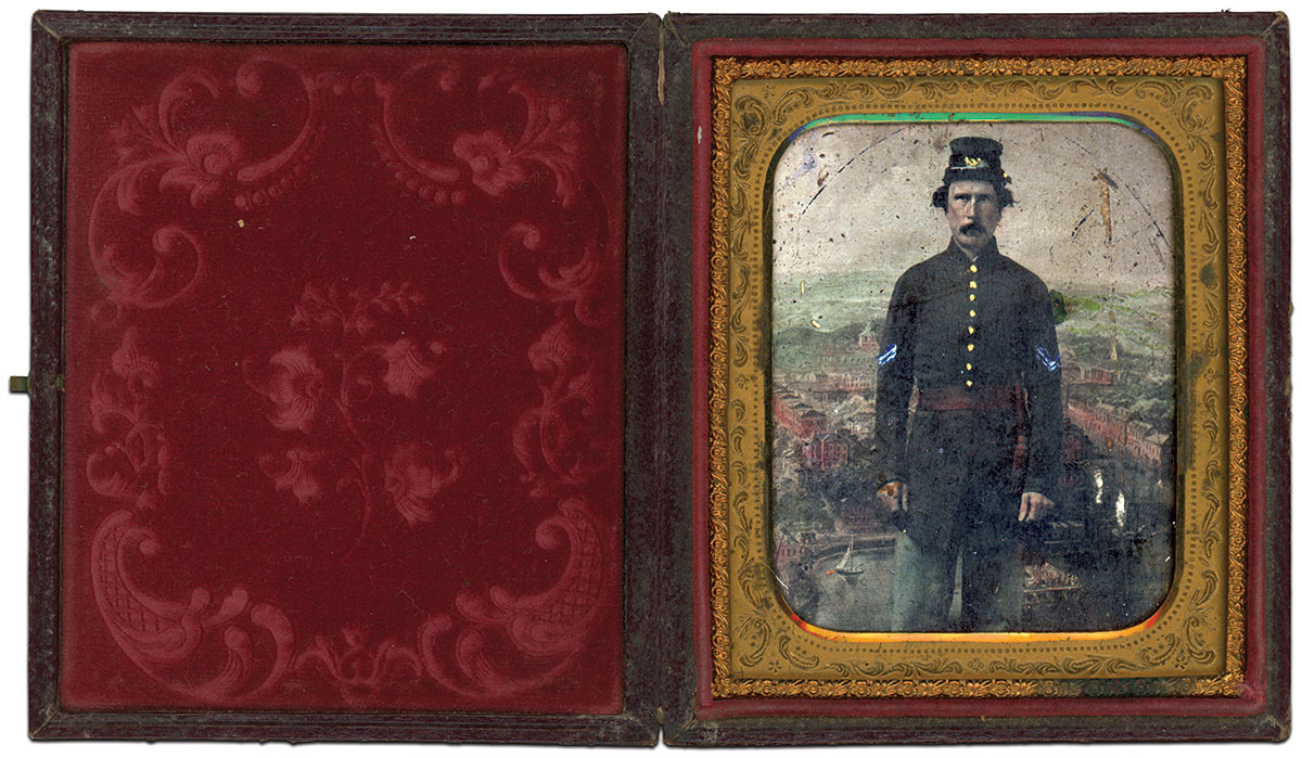 Sixth-plate tintype by an anonymous photographer. Josh Densmore Collection.