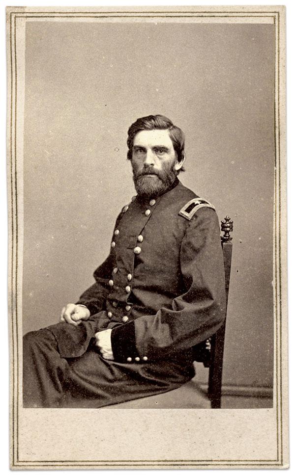 Grenville M. Dodge. Carte de visite by Mathew B. Brady of New York City  and Washington, D.C. Tom Glass Collection.