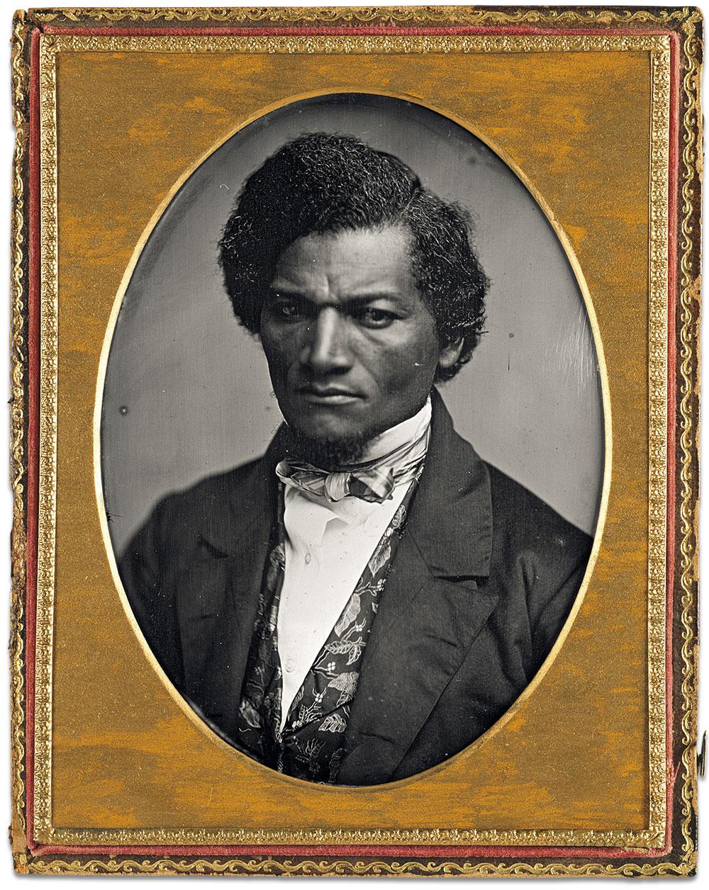 Frederick Douglass. Quarter-plate daguerreotype by Samuel J. Miller. National Gallery of Art.