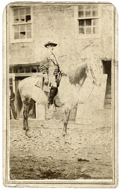 Carte de visite by White & Kelly of Lexington, Va. John O'Brien collection.