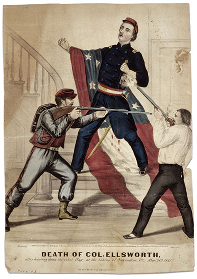Ellsworth's pre-war fame was eclipsed by his martyrdom at the hands of an innkeeper in Alexandria, Va., on May 24, 1861—just weeks after the bombardment of Fort Sumter. Library of Congress.