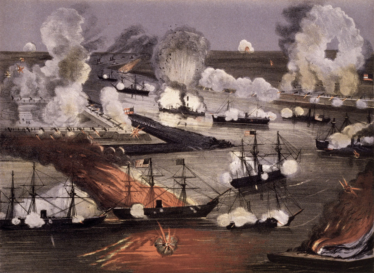 """""""The Battle of New Orleans"""" by Thomas S. Sinclair. Library of Congress."""
