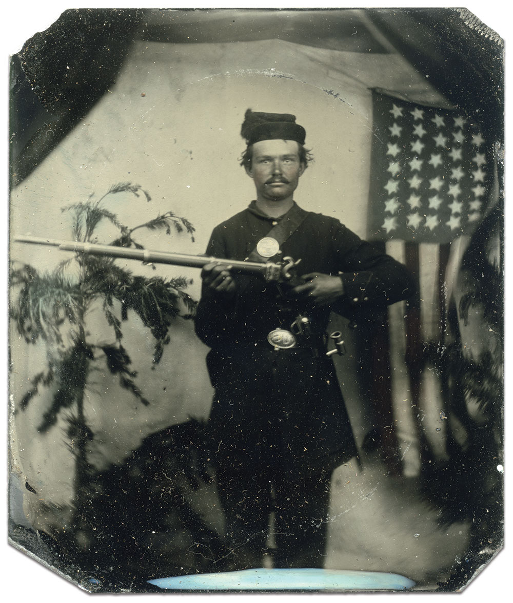 Sixth-plate tintype by an anonymous photographer. Rick Brown collection.