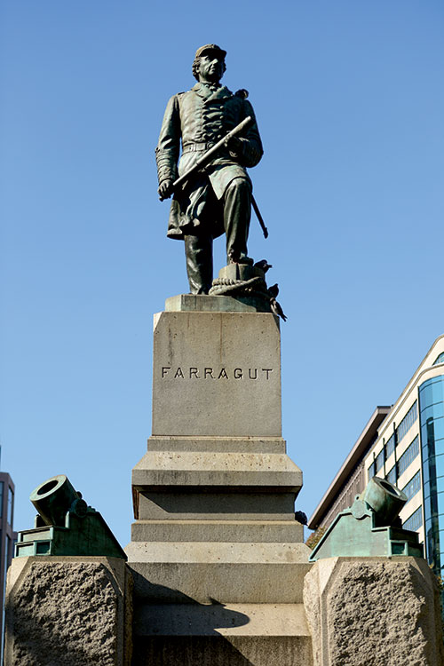 Vinnie Ream's statue of the admiral in Farragut Square, Washington, D.C. Chuck Myers for MI.