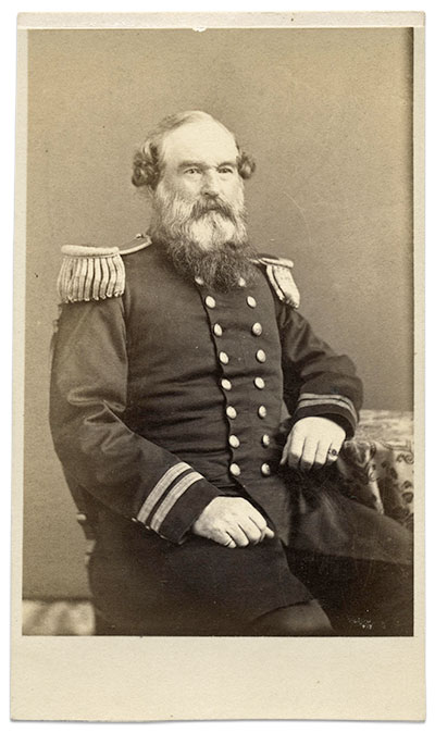 Capt. John Faunce, U.S. Revenue Marine Service. Carte de visite by J. Gurney & Son of New York City. Martin Schoenfeld collection.