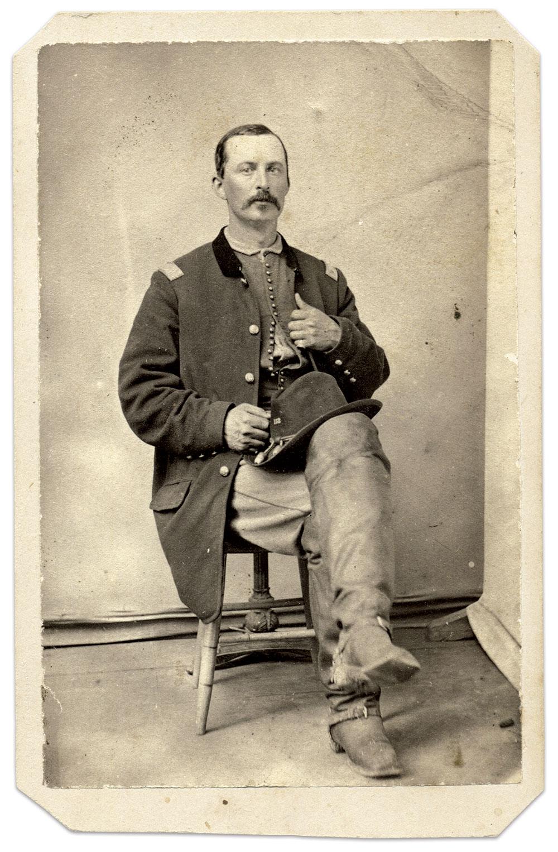 Capt. John W. Fenton, 132nd New York Infantry. Carte de visite by an anonymous photographer. Ronald S. Coddington Collection.