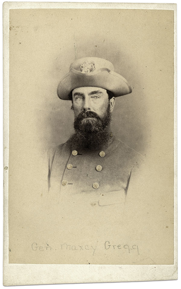Brig. Gen. Maxcy Gregg (above) suffered a mortal wound at the Battle of Fredericksburg. The American Civil War Museum Collection.