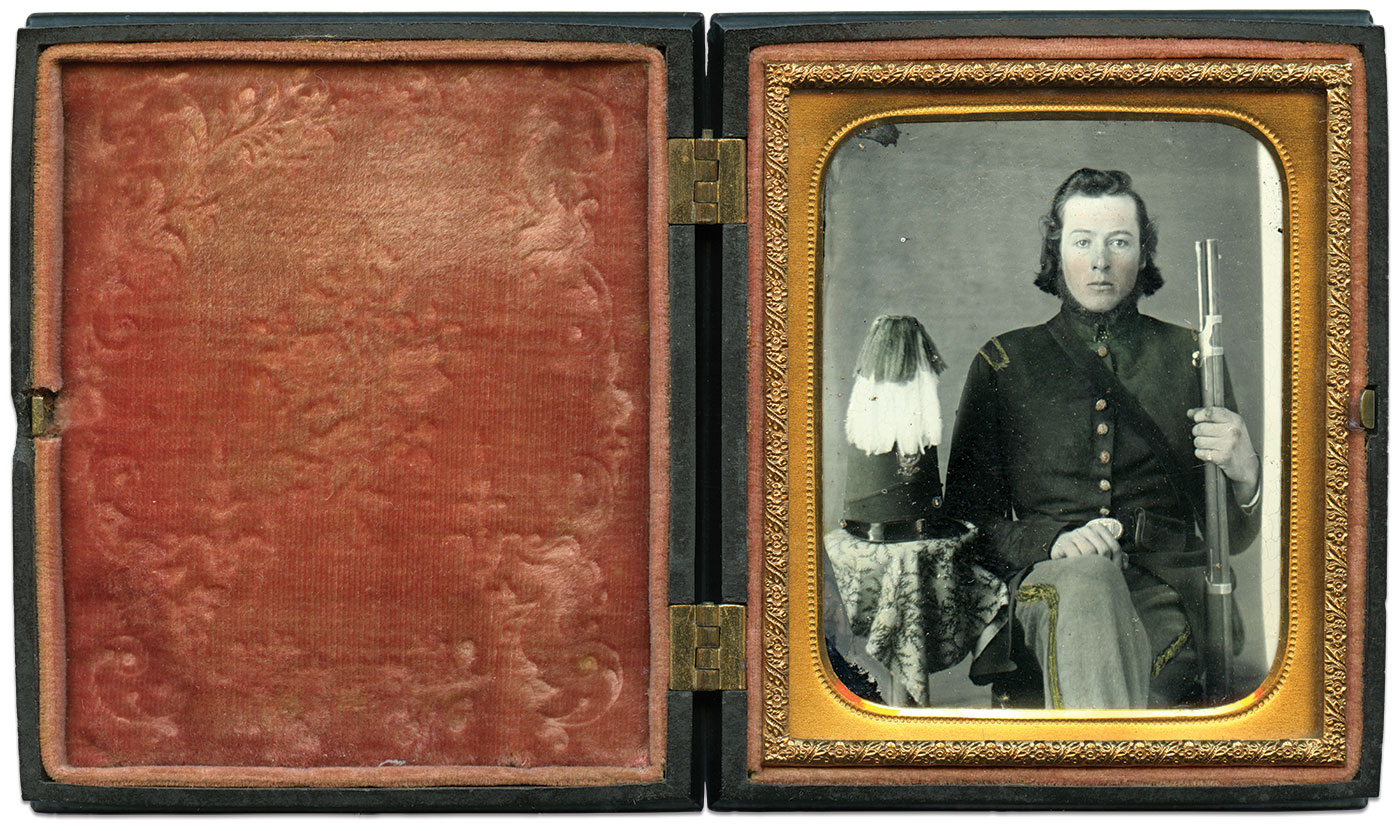 Sixth-plate ambrotype by an anonymous photographer. Kevin Canberg Collection.