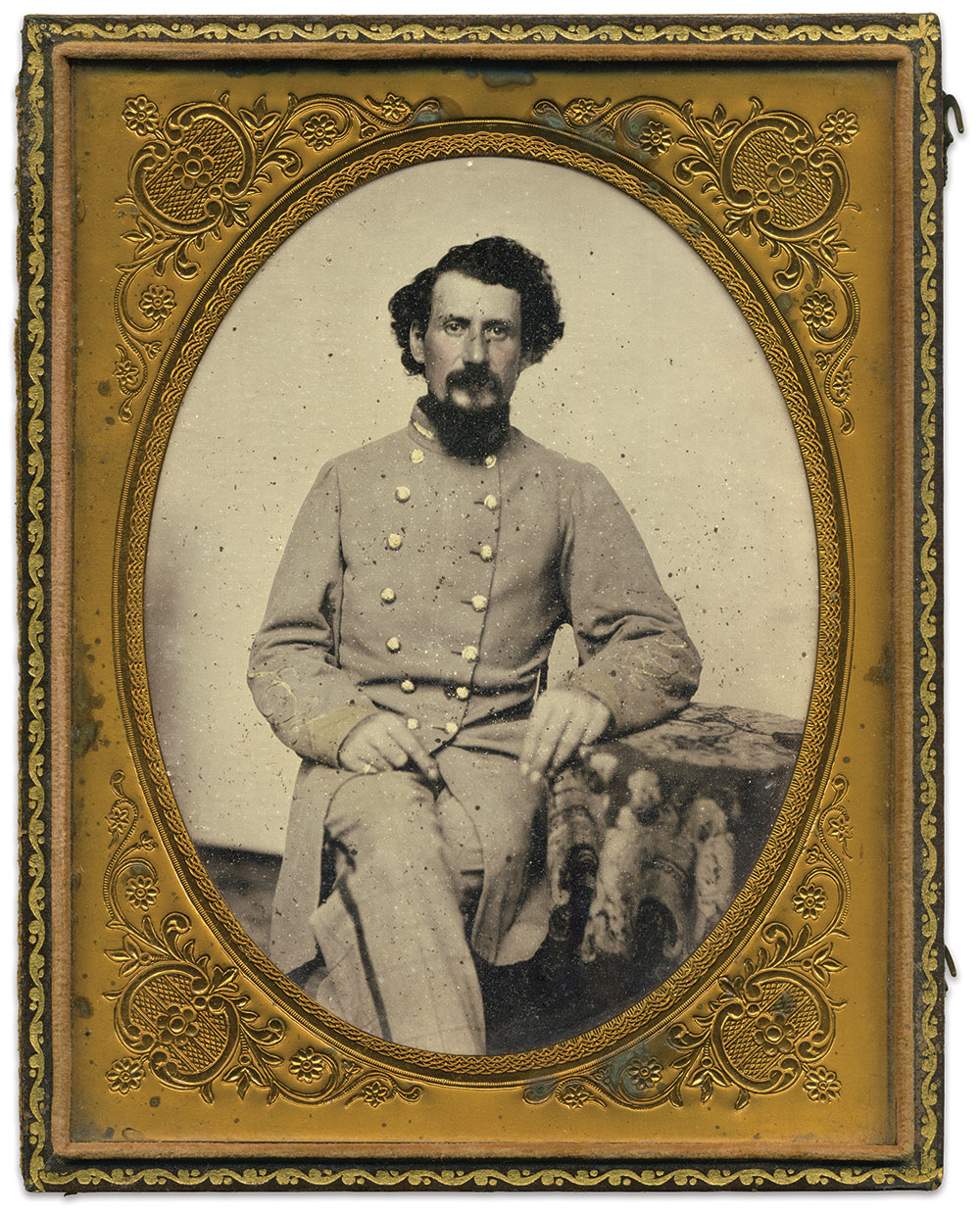 Half-plate ambrotype attributed to Charles R. Rees of Richmond, Va. Matthew Fleming Collection.