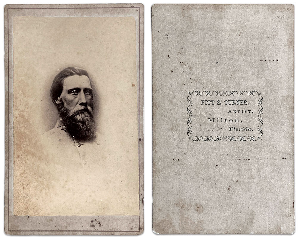 Ask yourself if the Confederate general you are looking at really would have his photo taken in a small town in Florida.