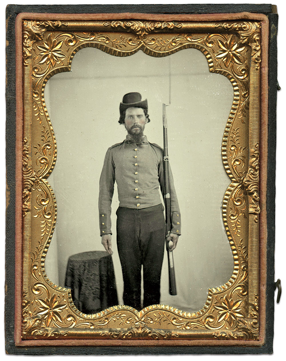 Quarter-plate ambrotype by an anonymous photographer.