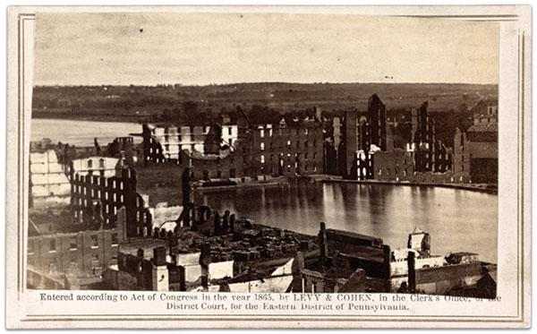Ruins of Gallego Flour Mills, circa July 1865. Carte de visite of Levy & Cohen of Philadelphia, Pa. Library of Congress.