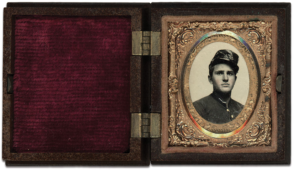Sixteenth-plate ambrotype by an anonymous photographer. Charles Joyce collection.