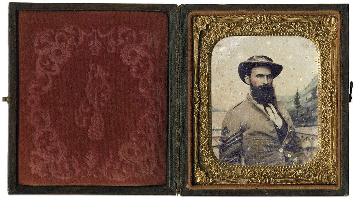 Sixth-plate ambrotype by an anonymous photographer. Willis Treadwell Collection.