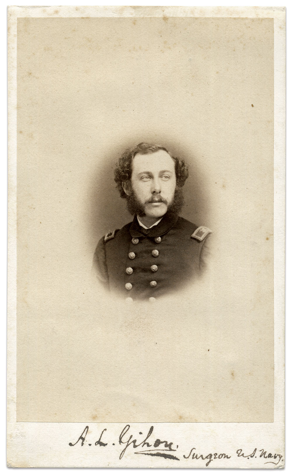 Gihon pictured as a surgeon, circa 1862. Carte de visite by John L. Gihon and Samuel Augustus Rixon of Philadelphia, Pa. Author's Collection.