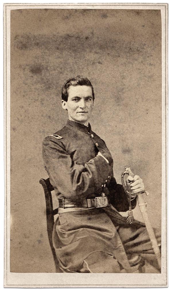 Goodloe, pictured as a first lieutenant, circa 1862. Carte de visite by Hoag & Quick's Art Palace of Cincinnati, Ohio. Jim Quinlan Collection.